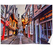 44 The Shambles York - HDR Poster