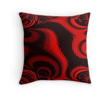 Abstract...Seeing Red Throw Pillow