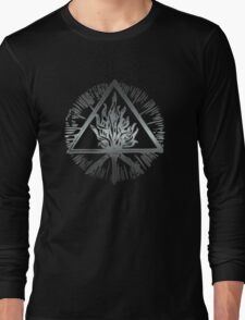 ANCIENT FIRE SYMBOL - scratched steel Long Sleeve T-Shirt