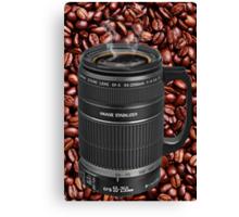 ✿◕‿◕✿  ❀◕‿◕❀ TELESCOPIC LENSE CUP OF COFFEE  ✿◕‿◕✿  ❀◕‿◕❀ Canvas Print
