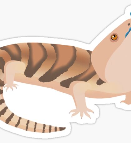 Simple Blue Tongue Skink Sticker