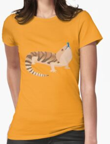 Simple Blue Tongue Skink Womens Fitted T-Shirt