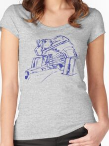 Gundam Head Women's Fitted Scoop T-Shirt