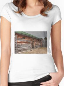 0842 Old Log Jail, Omeo Women's Fitted Scoop T-Shirt