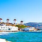 Mykonos Windmills by slexii