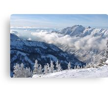 Winter mountains view from summit of Snowbird, Utah Canvas Print
