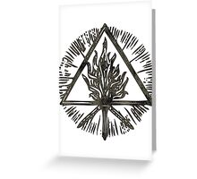 ANCIENT FIRE SYMBOL - the storm Greeting Card