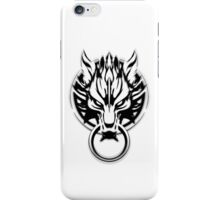 Cloud Strife's Wolf Emblem (Black) iPhone Case/Skin