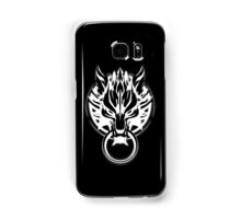 Cloud Strife's Wolf Emblem (White) Samsung Galaxy Case/Skin