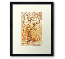 Flaming Tree of Sherwood Framed Print