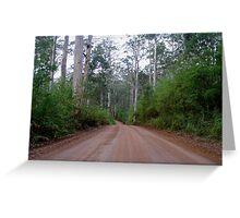 Forest road, Western Australia Greeting Card