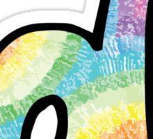 """Tie Dye """"D"""" Sticker"""