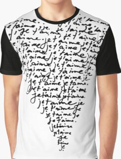 je t'aime ♥ i love you Graphic T-Shirt