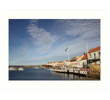 Lysekil harbour, West Sweden Art Print