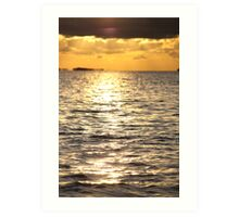 Sunset near Lysekil Art Print