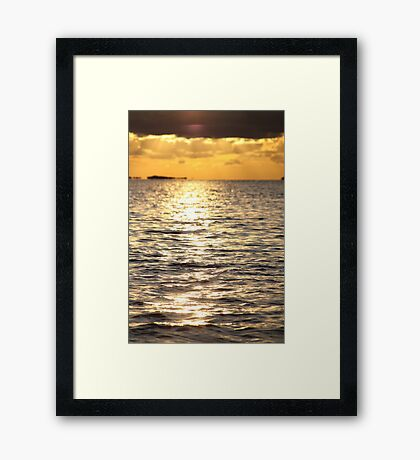 Sunset near Lysekil Framed Print