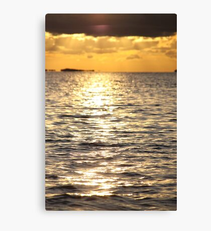 Sunset near Lysekil Canvas Print