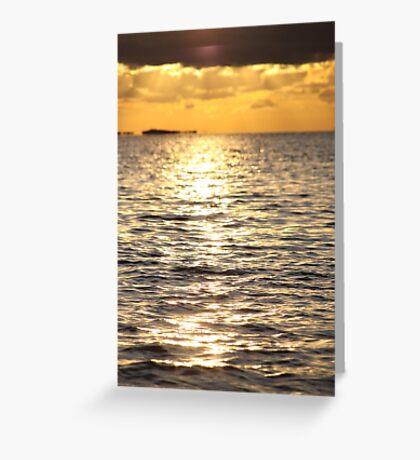Sunset near Lysekil Greeting Card