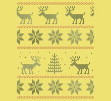 nordic Xmas pattern One Piece - Short Sleeve