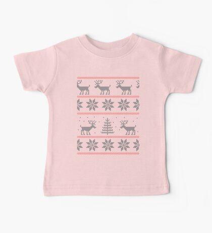 nordic Xmas pattern Baby Tee