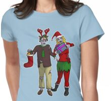 Xmas Zombies Womens Fitted T-Shirt