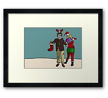 Xmas Zombies Framed Print