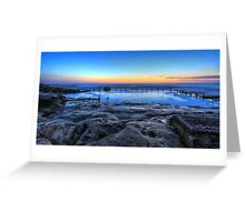 Mahon Pool @ Maroubra Greeting Card
