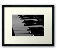 Old Piano Keyboard Framed Print