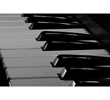 Old Piano Keyboard Photographic Print