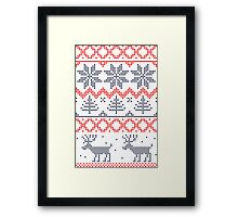 Nordic Xmas pattern Framed Print