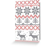 Nordic Xmas pattern Greeting Card
