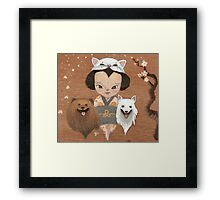 cat & dogs Framed Print