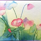 watercolour flowers - version of J.Collins work by Annie Wise
