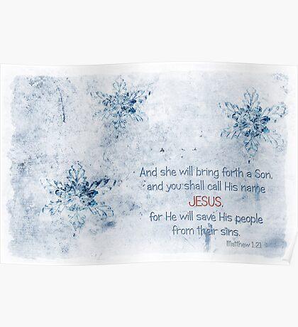 Call His name JESUS Poster