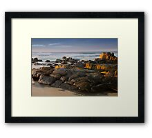 Rocks warming Framed Print