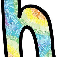 """Tie Dye """"H"""" by embati"""