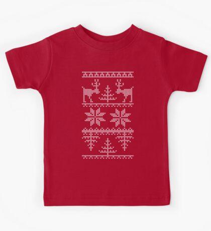 nordic knit pattern Kids Tee