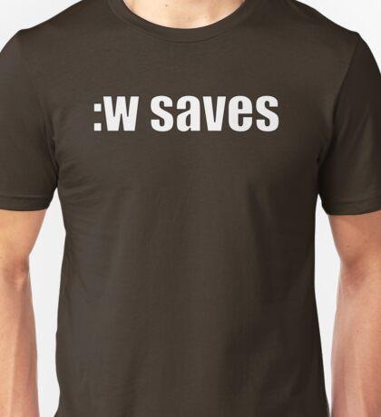 Vim :w saves Unisex T-Shirt