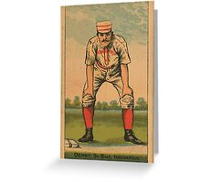 Benjamin K Edwards Collection Jerry Denny Indianapolis Hoosiers baseball card portrait Greeting Card