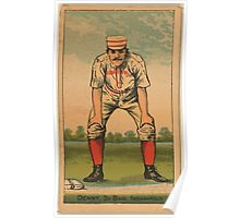 Benjamin K Edwards Collection Jerry Denny Indianapolis Hoosiers baseball card portrait Poster