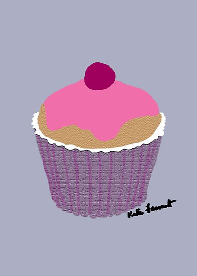 Pink iced cupcake  by kreativekate