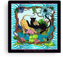 Companions in Paradise by Ro London - Menagerie Collection Canvas Print