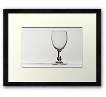 Wineglass in Light Framed Print