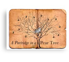 A Partridge in a Pear Tree Canvas Print