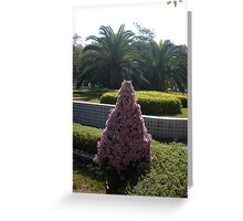 A purple Christmas tree in the tropics Greeting Card