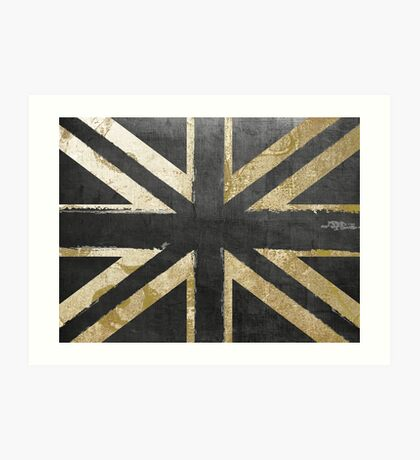 Fashion Flag United Kingdom Art Print