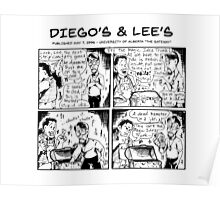 Diego's & Lee's comic strip Poster