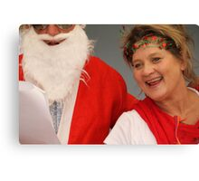 Santa and Mrs. Clause.... Canvas Print