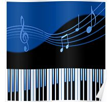 Black & Blue Musical Melody Poster
