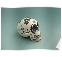A glamorous painted skull  Poster